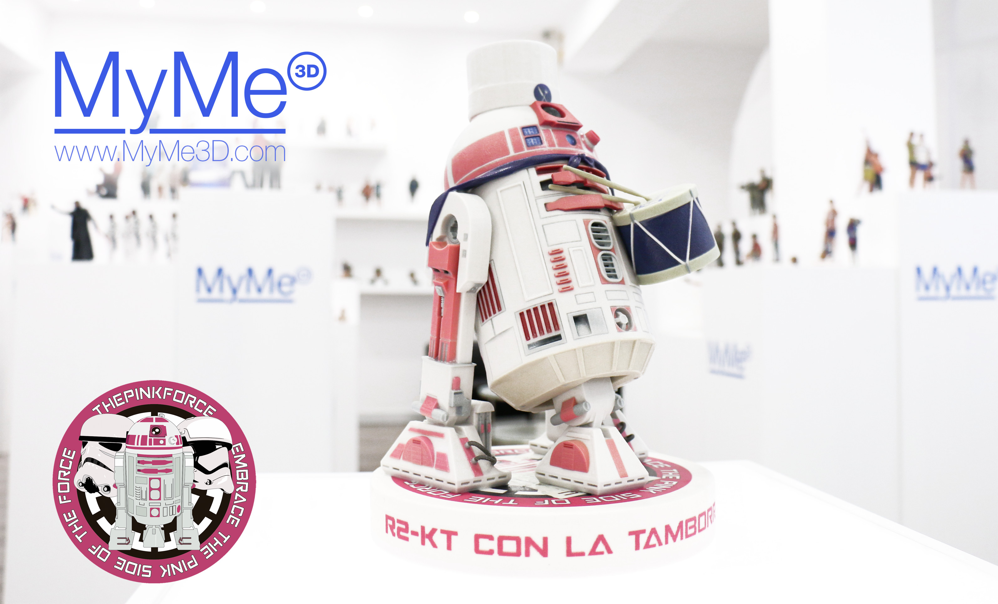 MYME3D COLABORA CON THE PINK FORCE